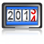 2014 New Year counter, vector.