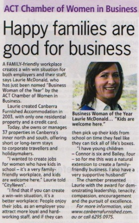 Image of Laurie McDonald Happy Families Article